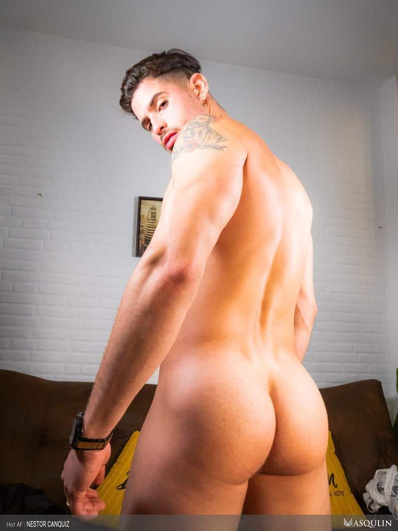 Hot-sexy-young-Latin-stud-Nestor-Canquiz-strokes-huge-thick-dick-massive-cum-shot-1-gay-porn-pics