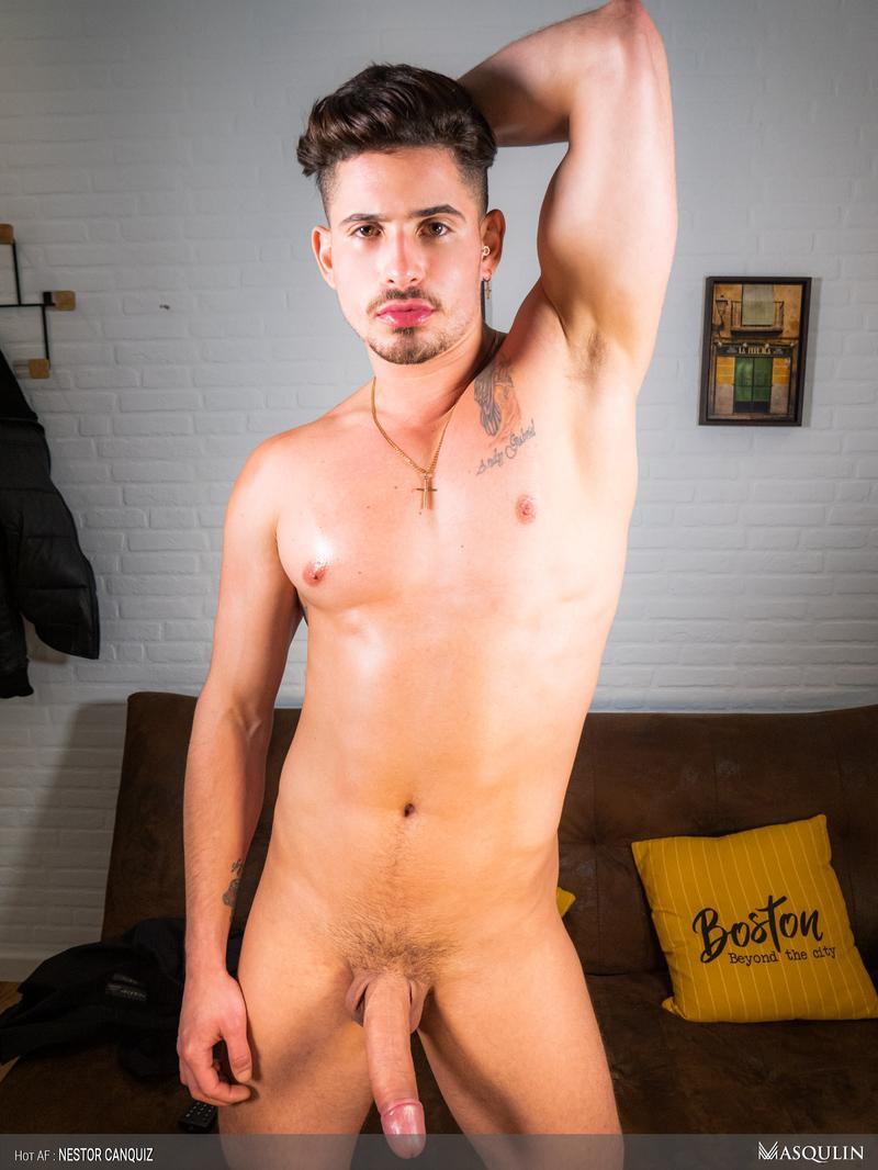 Hot-sexy-young-Latin-stud-Nestor-Canquiz-strokes-huge-thick-dick-massive-cum-shot-8-gay-porn-pics
