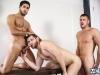 Naked sportsmen locker room threesome darin silvers, sean duran and max cameron ass fucking