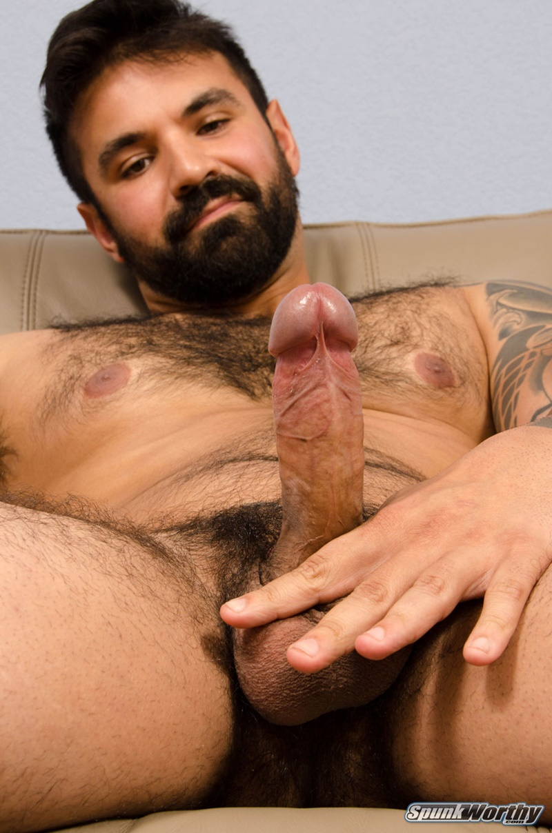 Pakistani pathan hairy hunk jerks wildly in office