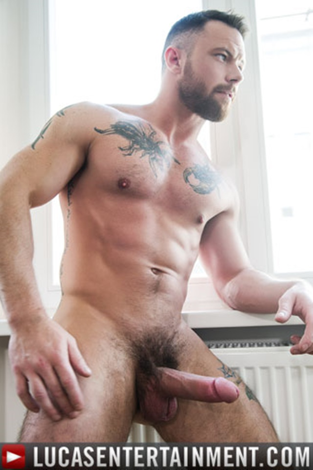 Handsome straight guy mike wanking his giant cock 9